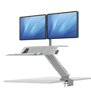 "Lotus RT Sit-Stand 36""W Dual Monitor Workstation, White (8081801)"