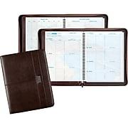"""2020 Day-Timer® Coastlines® 8 1/2"""" x 11"""" Weekly Planner, 12 Months, January Start, Wirebound, Notebook Size, Brown (88464-2001)"""