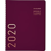 """2020 AT-A-GLANCE 8 1/4"""" x 11"""" Contemporary Weekly/Monthly Planner, 12 Months, January Start, Purple (70-940X-59-20)"""