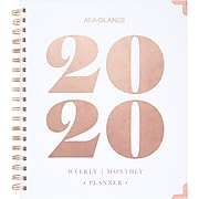 "2020 AT-A-GLANCE 8"" x 10"" BADGE Collection Weekly/Monthly Hardcover Planner, Bold Year (6282B-904-20)"