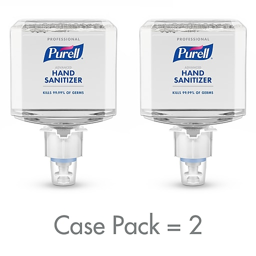 PURELL® Professional Advanced Hand Sanitizer Foam, Clean Scent, 1200 mL Refill for ES4 Push-Style Dispenser 2/CT (5054-02)