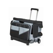 "ECR4kids Universal Rolling 16.5""H x 17.5""W Plastic Cart, Black, Each (ELR-0549B)"