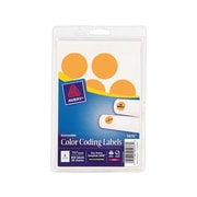"Avery Easy Peel Laser Color Coding Labels, 1 1/4"" Dia, Neon Orange, 8 Labels/Sheet, 50 Sheets/Pack (5476)"