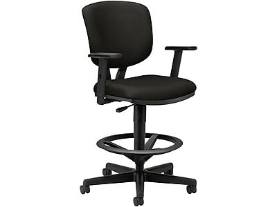 HON Volt 5700 Series Fabric Computer and Desk Stool, Black (H5705AGA10) NEXT2019 NEXTExpress