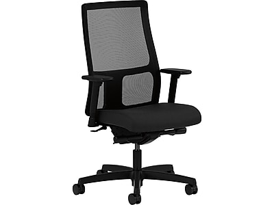 Superieur HON Ignition Fabric Executive Office Chair, Adjustable Arms, Black  (HONIW108CU10) | Staples