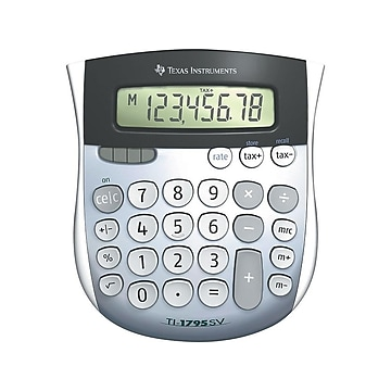 Texas Instruments TI-1795 SV 8-Digit Desktop Calculator, Gray/Silver