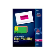 "Avery High Visibility Laser Shipping Labels, 2"" x 4"", Assorted Colors, 10 Labels/Sheet, 15 Sheets/Pack (5978)"