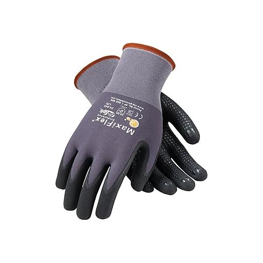MaxiFlex Endurance by ATG Nitrile Gloves, Black/Gray, Dozen (34-844/L)