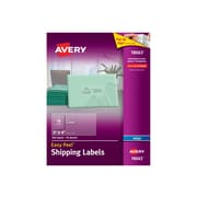"""Avery Easy Peel Inkjet Shipping Labels, 2"""" x 4"""", Clear, 10 Labels/Sheet, 10 Sheets/Pack (18663)"""