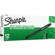 Sharpie® Felt Pens, Fine Point, Black Ink, Dozen (1742663)