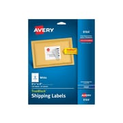 "Avery TrueBlock Inkjet Shipping Labels, 3 1/3"" x 4"", White, 6 Labels/Sheet, 25 Sheets/Pack (08164)"