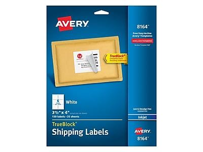 Avery TrueBlock Inkjet Shipping Labels, 3 1/3