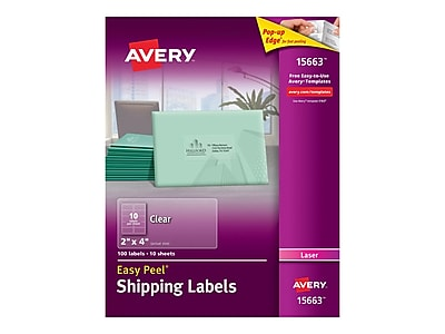 Avery Easy Peel Laser Shipping Labels, 2