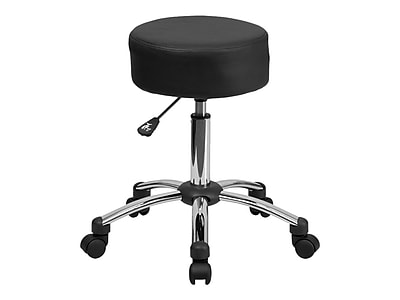 Flash Furniture Leather/Faux Leather Backless Stool, Black (BT-191-1-GG)
