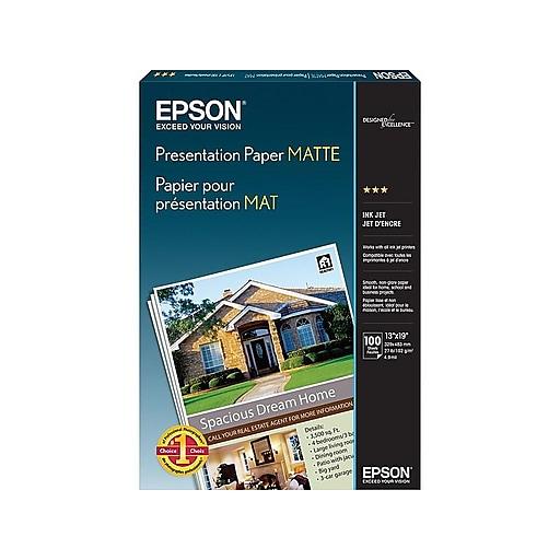 Epson Matte Presentation Paper, 13