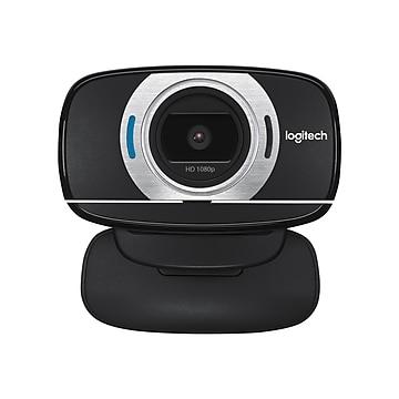 Logitech C615 720p Portable Webcam, 8 Megapixels, Black (960-000733)