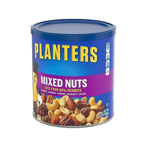 Planters Mixed Nuts, Variety, 15 Oz  (001670)