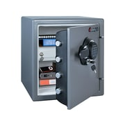 SentrySafe Steel Fire and Waterproof Safe with Keypad w/Key, 1.23 cu. ft. (SFW123GDC)
