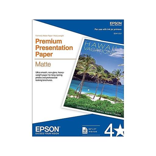 Epson Premium Matte Presentation Paper, 8 5