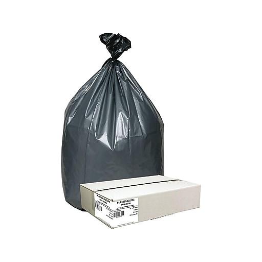 Webster Platinum Plus 33 Gal  Liner Trash Bags, Gray, 50/Carton  (PLA3350-432284)