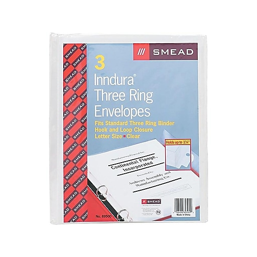 "Smead Polypropylene Sheet Protectors, 8.5"" x 11"", Clear, 3/Pack (89500)"