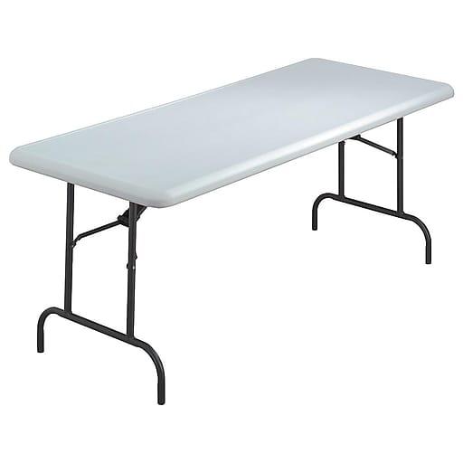 Iceberg 6 Heavy Duty Commercial Resin Folding Banquet Table Platinum Granite Staples