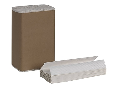 Pacific Blue Basic C-Fold Paper Towels, 1-Ply, 240 Sheets/Pack, 10 Packs/Carton (25190)
