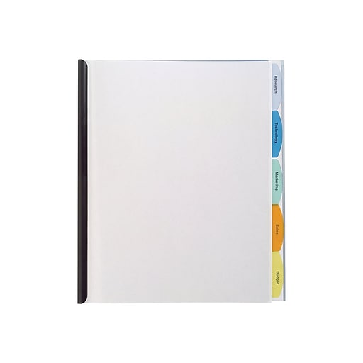 Wilson Jones View-Tab Punchless Report Cover, Letter, Clear (55766C)