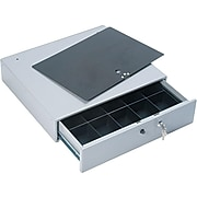 PM Company Cash Drawer, 10 Compartments, Stone Gray (PMC04964)