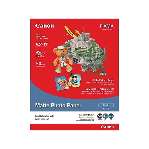 Canon MP 101 Matte Photo Paper, 8 5