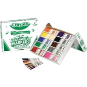 Crayola Classpack Fine Line Washable Markers, Fine, Assorted Colors, 200/Carton (58-8211)