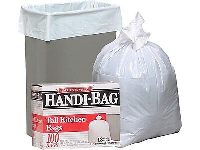 Webster Handi-Bag Tall Kitchen Trash Bags, 13 Gal., 100/Box (HAB6FK100)