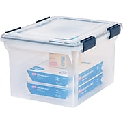 Iris WEATHERTIGHT Plastic Box, Letter/Legal Size, Clear (110601)