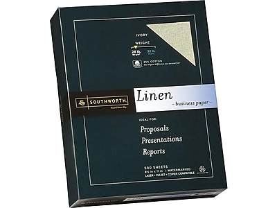 "Southworth 8.5"" x 11"" Business Paper, 24 lbs., 100 Brightness, 500/Box (564C)"