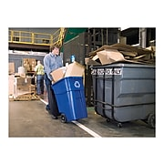 Rubbermaid Brute Polypropylene Container, 50 Gal., Blue (FG9W2773BLUE)