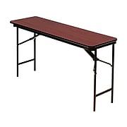 "ICEBERG Premium Folding Table, 72"" x 18"", Mahogany/Brown (55284)"