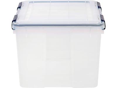 IRIS® 46 Quart Weathertight Plastic Storage Box (110455) | Staples