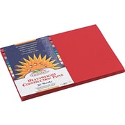 "SunWorks 12""W x 18""L Construction Paper, Holiday Red, 50/Pack (9907)"