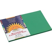 """SunWorks 12""""W x 18""""L Construction Paper, Holiday Green, 50/Pack (8007)"""