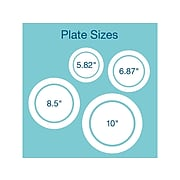 Eco-Products® Compostable Round Sugarcane Plates, White, 1000/Carton (EP-P016)