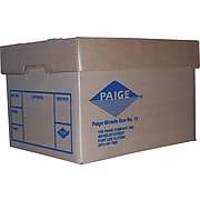 Paige Miracle Corrugated Box, Letter/Legal Size, Brown (MB-15)