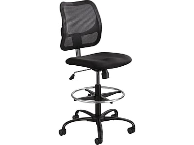 Safco Vue Nylon Mesh Back Fabric Computer and Desk Chair, Black (3395BL)