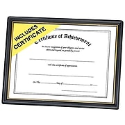 """NuDell 8.5""""W x 11""""L Certificate Frame, Black/Gold, Each (19210)"""