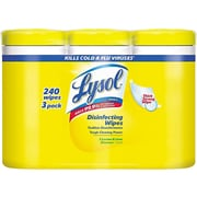 Lysol Disinfecting Wipes, Lemon and Lime Blossom, 80/Canister, 3 Canisters/Pack, 2/Carton (RAC84251CT)
