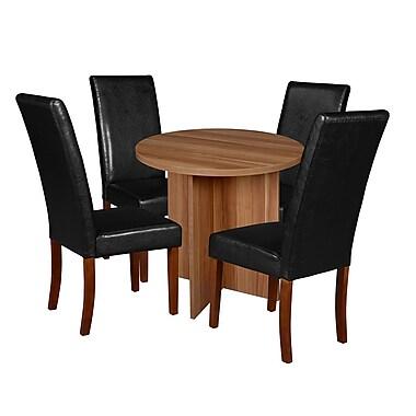 Niche Mod – Table ronde de 30 po, cerisier et 4 chaises de salle à manger Tyler, noir/cerisier (NRT3029WC60CH4)