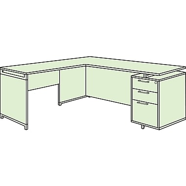Regency OneDesk Single Pedestal L-Desk, Java
