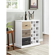 Altra Mercer Wine Cabinet with Multicolored Door Fronts, White (7465096PCOM)