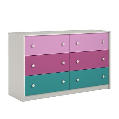 Ameriwood Home Kaleidoscope 6 Drawer Dresser, Whimsy (5889501PCOM)