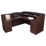 Regency Legacy Box Box File/ File File Pedestal Reception Desk- Mahogany (LRDRT2FPMH)