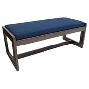 Regency Belcino Double Seat Bench- Mocha Walnut/ Blue (BBNCH2148MWBE)